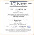 ISO14001环境成员国认同书